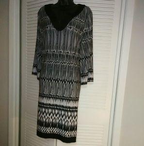 Chico's plus size 3 (16) black white dress